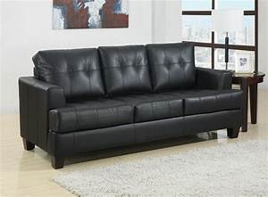toronto tufted black leather sleeper sofa bed by true With sectional sleeper sofa toronto