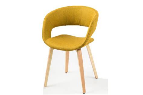 chaise en bois design chaise design jaune curry pieds bois sab miliboo