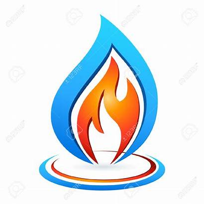 Flame Gas Clipart Fire Water Vector Clip
