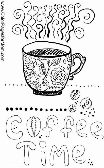 Coloring Coffee Pages Adult Sheets Adults Printable