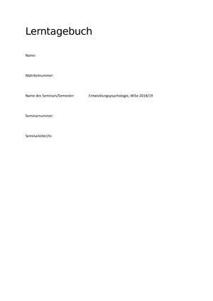 Nur fünf bis zehn minuten am tag genügen, um die lerninhalte stichwortartig zu notieren. Lerntagebuch Uni Vorlage : Ausgewahlte Instrumente Zur Forderung Der Selbstreflexion In ...