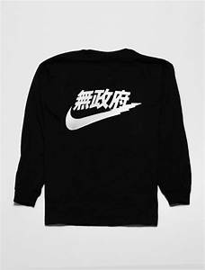 shirt sweater nike noir chinese letters black With chinese letter shirt