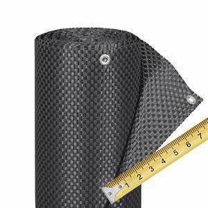 Balkonverkleidung Kunststoffgeflecht Meterware Titangrau