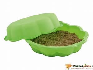 Bac À Sable Plastique : bac sable en plastique coquillage vert avec couvercle ~ Melissatoandfro.com Idées de Décoration