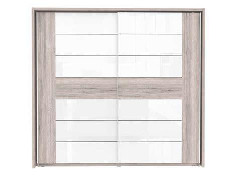 armoire 2 portes coulissantes dolce coloris ch 234 ne cendr 233