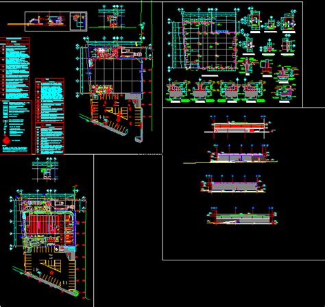 convenience store  small town dwg section  autocad designs cad