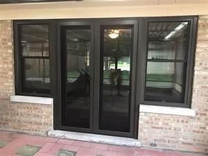 Unique Patio Door And Window Combination