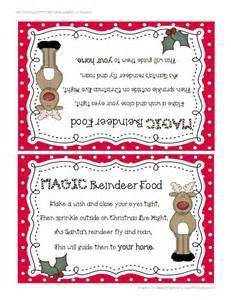 Printable Reindeer Food Label