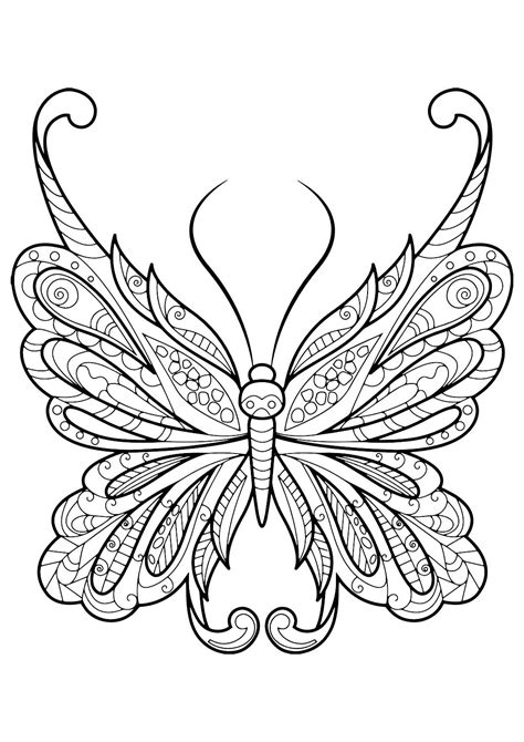 butterfly pictures to color butterfly coloring book easy crafts