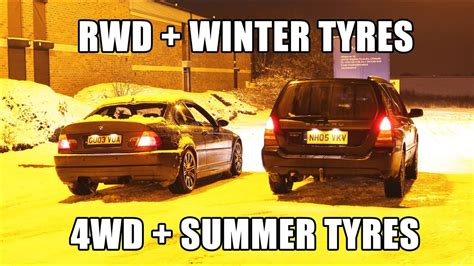 rwd  winter tyres  wd  summer tyres  snow youtube
