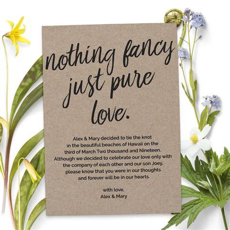fancy  pure love wedding elopement