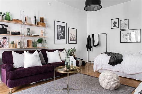 Studio Apartment Sofa by Studio Apartment With A Purple Sofa Studio Loft