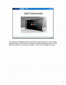 Samsung 2013 Oled Tv Training Guide Service Manual