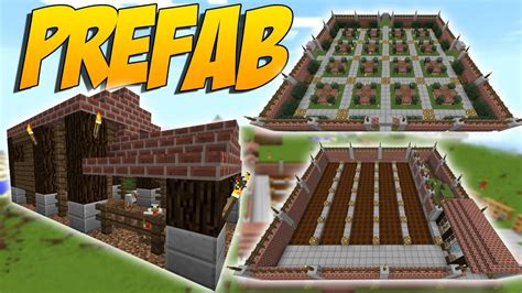 prefab mod de estructuras instantaneas casa granjas