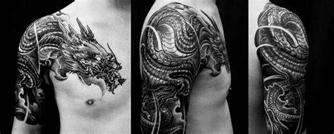 chest   sleeve dragon tattoo chronic ink