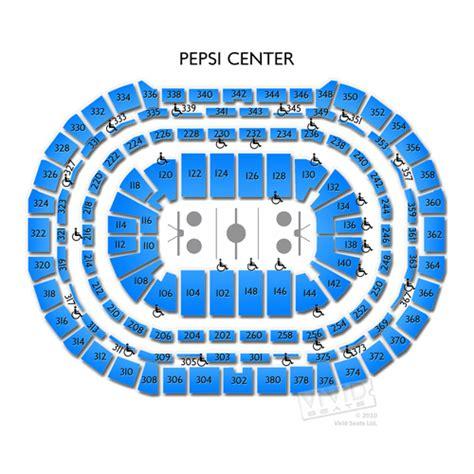 pepsi center  pepsi center information pepsi center seating chart