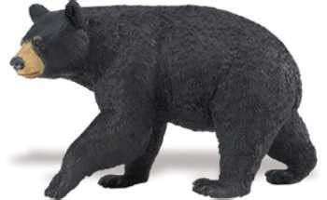 black bear toy miniature  animal world
