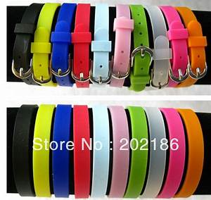 50pcs 8mm diy accessories silicone wristband bracelet fit With slide letters for bracelets