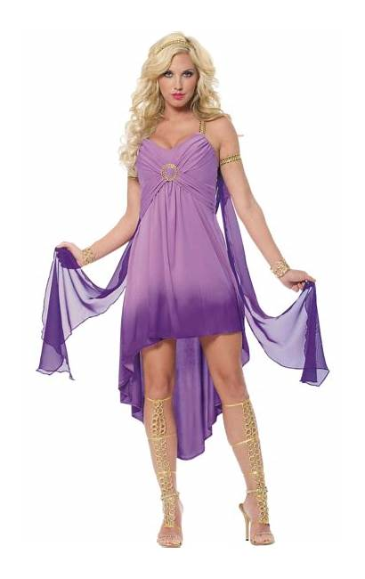 Goddess Costume Roman Purple Greek Costumes Ancient