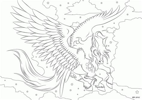 coloring pages  pegasus coloring home