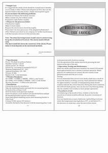Ss 168 W Smoke Sensor User U0026 39 S Manual