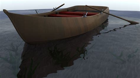 Simple Boat by 3d Model Simple Wooden Rowboat And Fishing Boat Vr Ar