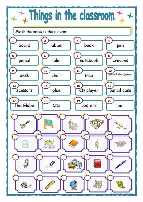 classroom worksheet  esl printable
