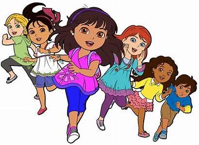 Friends Cartoon Dora Clipart Clip Into Alana