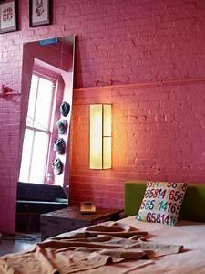 12 idees deco de murs en brique pour votre loft With peinture pour brique interieur