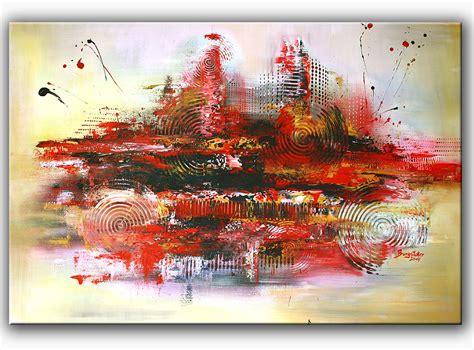 Rot, Modern, Querformat, Moderne Kunst Von Alex B