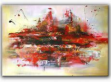 Vulkan Rot, Modern, Querformat, Moderne kunst von Alex B