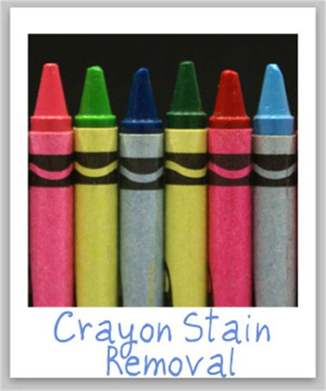 Remove Crayon From Upholstery by Crayon Stain Removal Guide For Clothing Upholstery