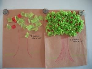 craft ideas for presidents day craft tissue paper cherry tree woo jr 3832