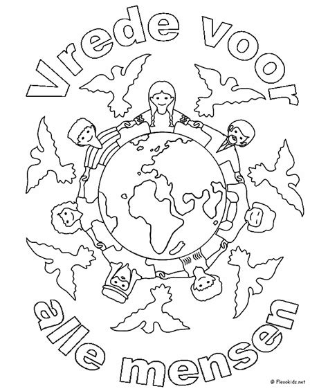 Kleurplaat Bevrijdingsdag by 4 En 5 Mei Kleurplaten Vrede