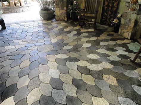 recycled granite pavers