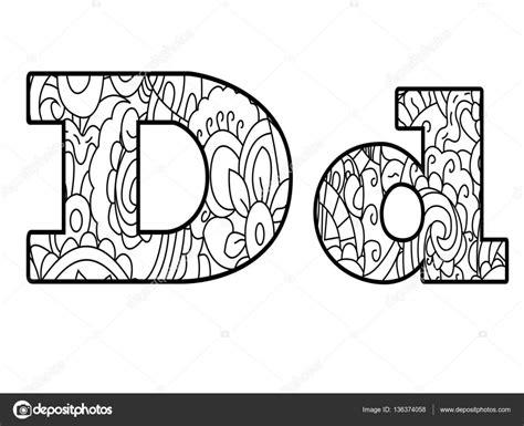 Kleurplaat Mandala Letter D by Anti Kleurplaat Boek Alfabet De Letter D Vector