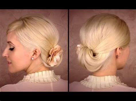 elegant updo  medium long hair tutorial  work