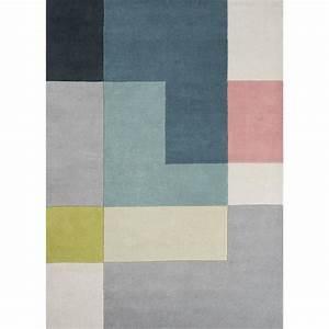 Tapis Jaune Et Noir : tapis pour salon motifs geometriques tetris jaune 200x300 par unamourdetapis tapis moderne ~ Teatrodelosmanantiales.com Idées de Décoration