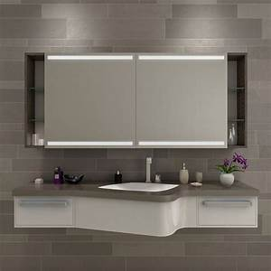 Badezimmer Spiegelschrank Led : spiegelschrank badezimmer led mit regal new york ~ Indierocktalk.com Haus und Dekorationen
