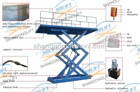 2.5m Automatic Hydraulic Scissor Type Garage Car Lift With