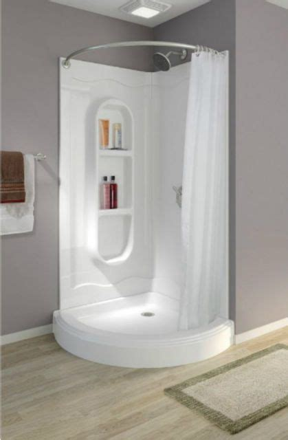 Where To Buy Shower Stalls by Corner Shower Stalls Kits Walk In One Curtain Rod