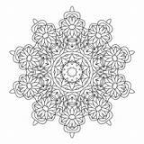 Coloring Kaleidoscope Pages Adults Adult Printable Books Mandala Popular Mandalas Template sketch template