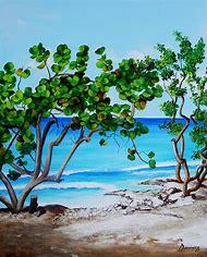 Tropical Beach Art Painting