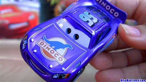 mcqueen lightning blu cars dinoco ray disney pixar blucollection diecast metallic finish