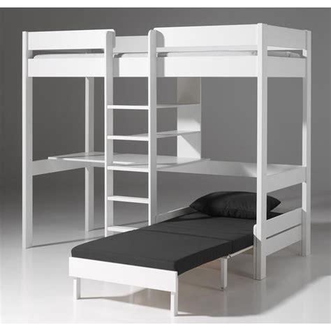 bureau flexa lit mezzanine avec fauteuil quot pino quot blanc
