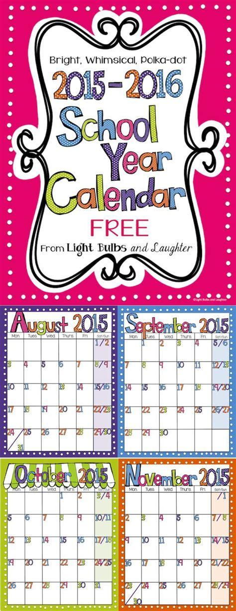editable  bright polka dot monthly calendars