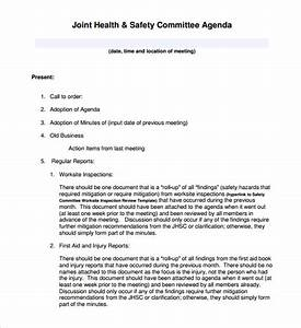 meeting agenda template 46 free word pdf documents With health and safety committee meeting agenda template