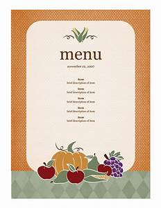 21 free free restaurant menu templates word excel formats With html menu templates free download