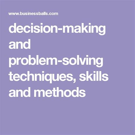 Problem Solving And Decision Skills Resume by Best 25 Decision Ideas On