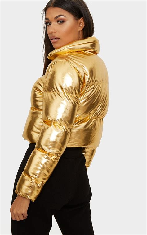 Credit card insider is an independent, advertising supported website. Gold Metallic Cropped Puffer Jacket | PrettyLittleThing USA